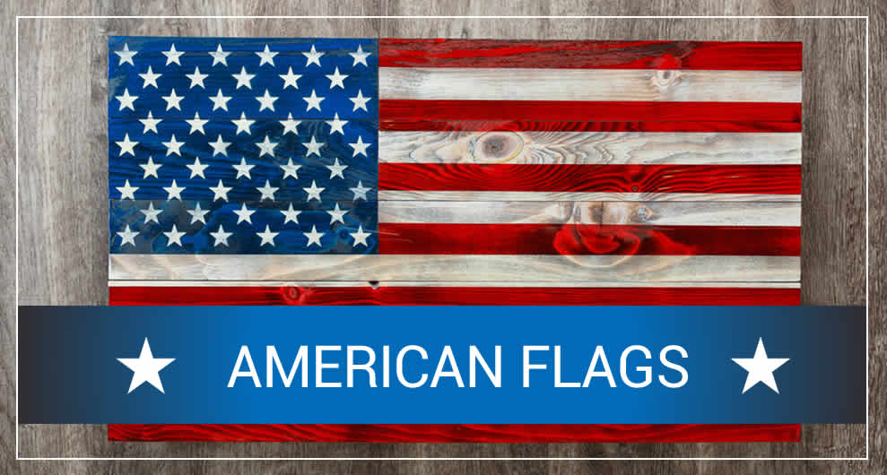 Wood American flag wall art