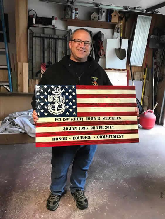 Custom American Flag wall art