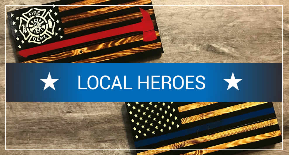 Local heroes - Military Wooden Flag Wall Art