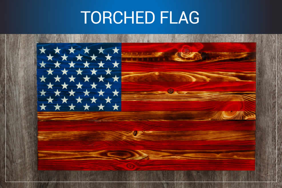 wooden american flag for sale
