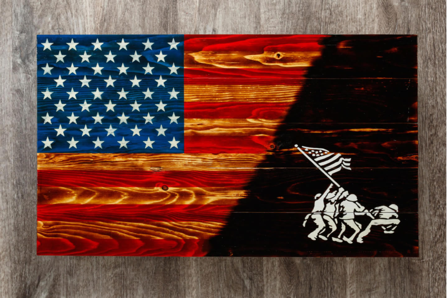 Iwo jima American flag wall art